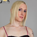Christina skyye. Lovely blonde tgirl in tattoos strips for your pleasure!